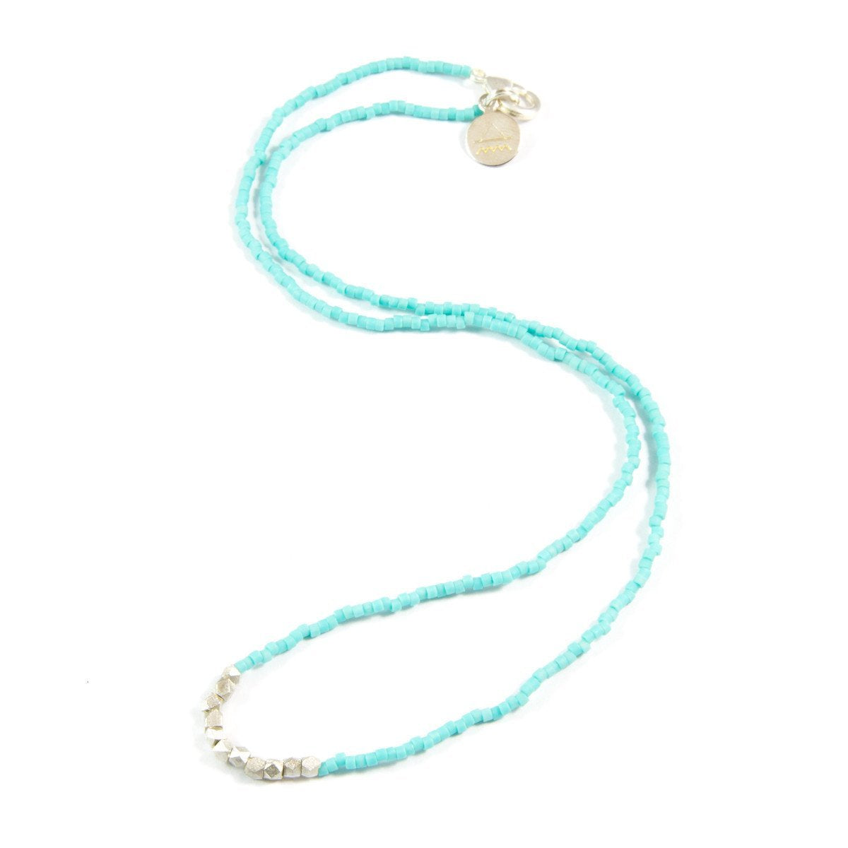 Teal Day to Night Necklace in Silver