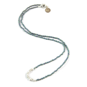 Denim Day to Night Necklace in Silver