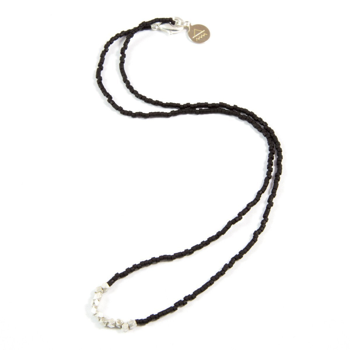 Black Day to Night Necklace in Silver