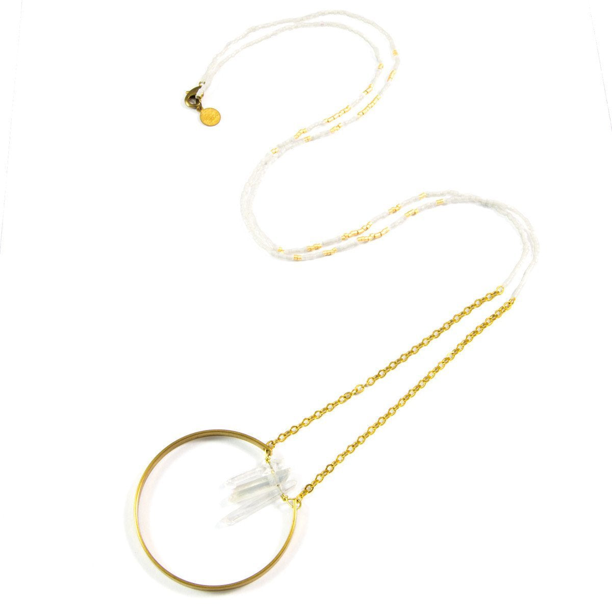 White Party Broken Circle Necklace