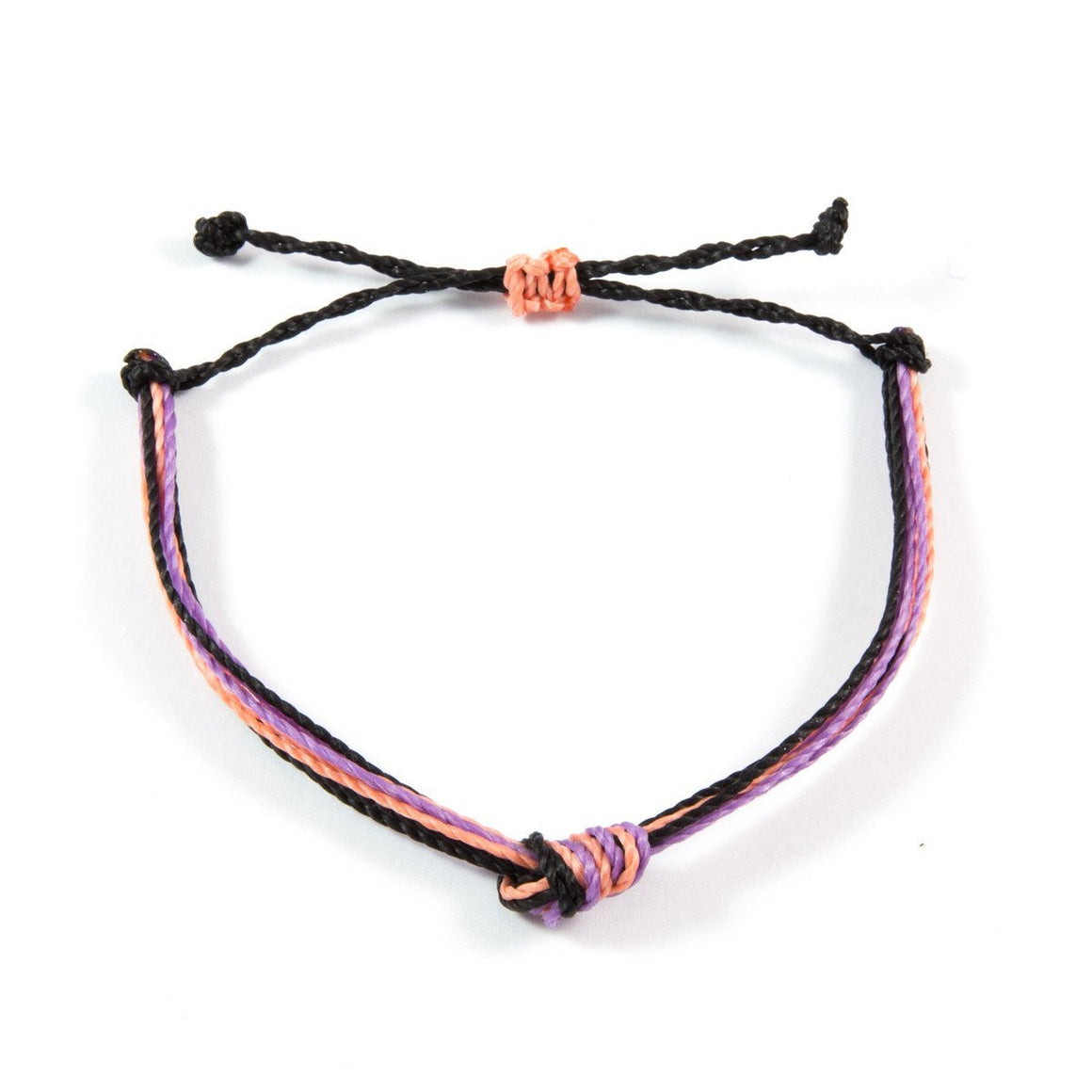 Purple, Coral & Black Men's Carlos Bracelet