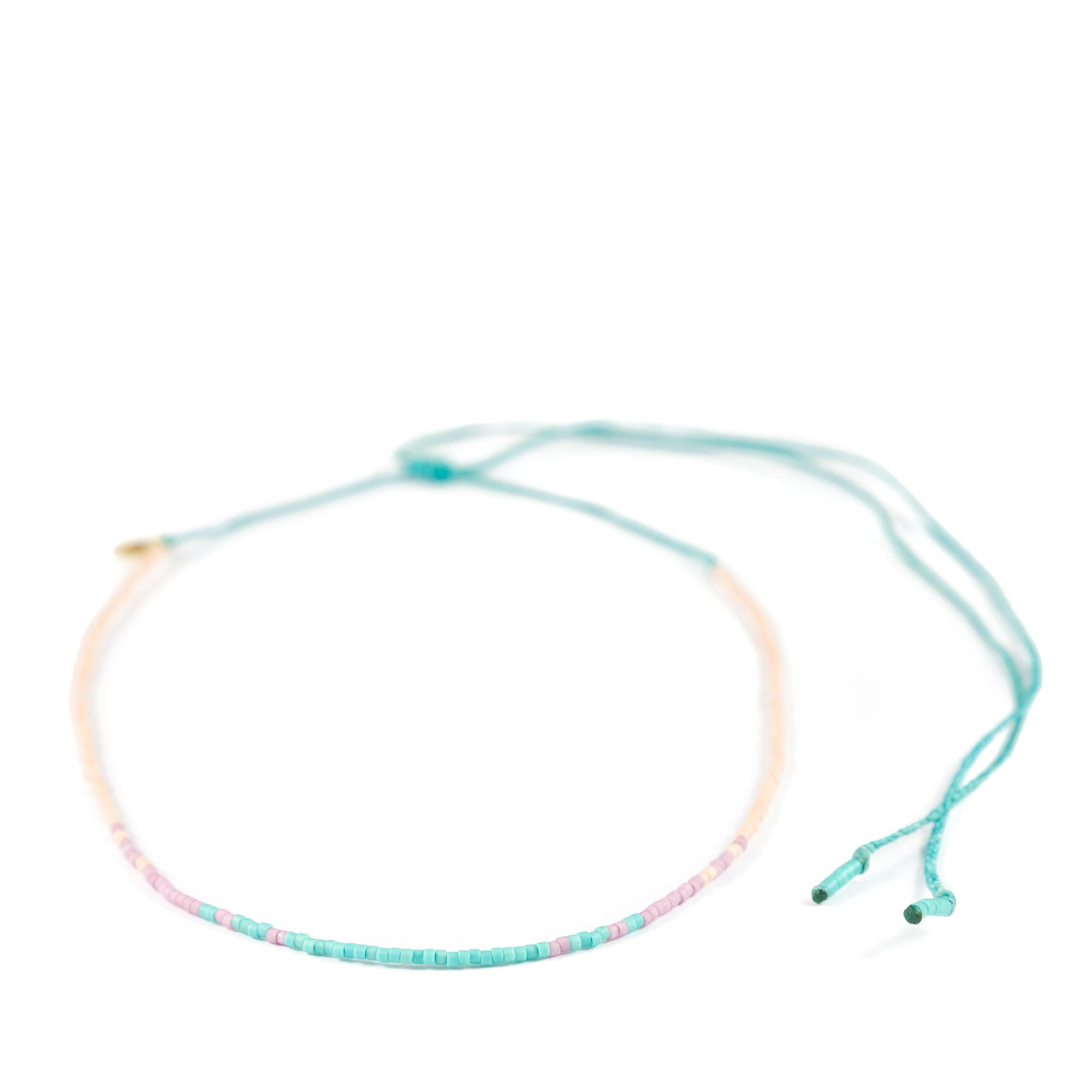 Coral Plum Teal Ombre Mermaid Necklace