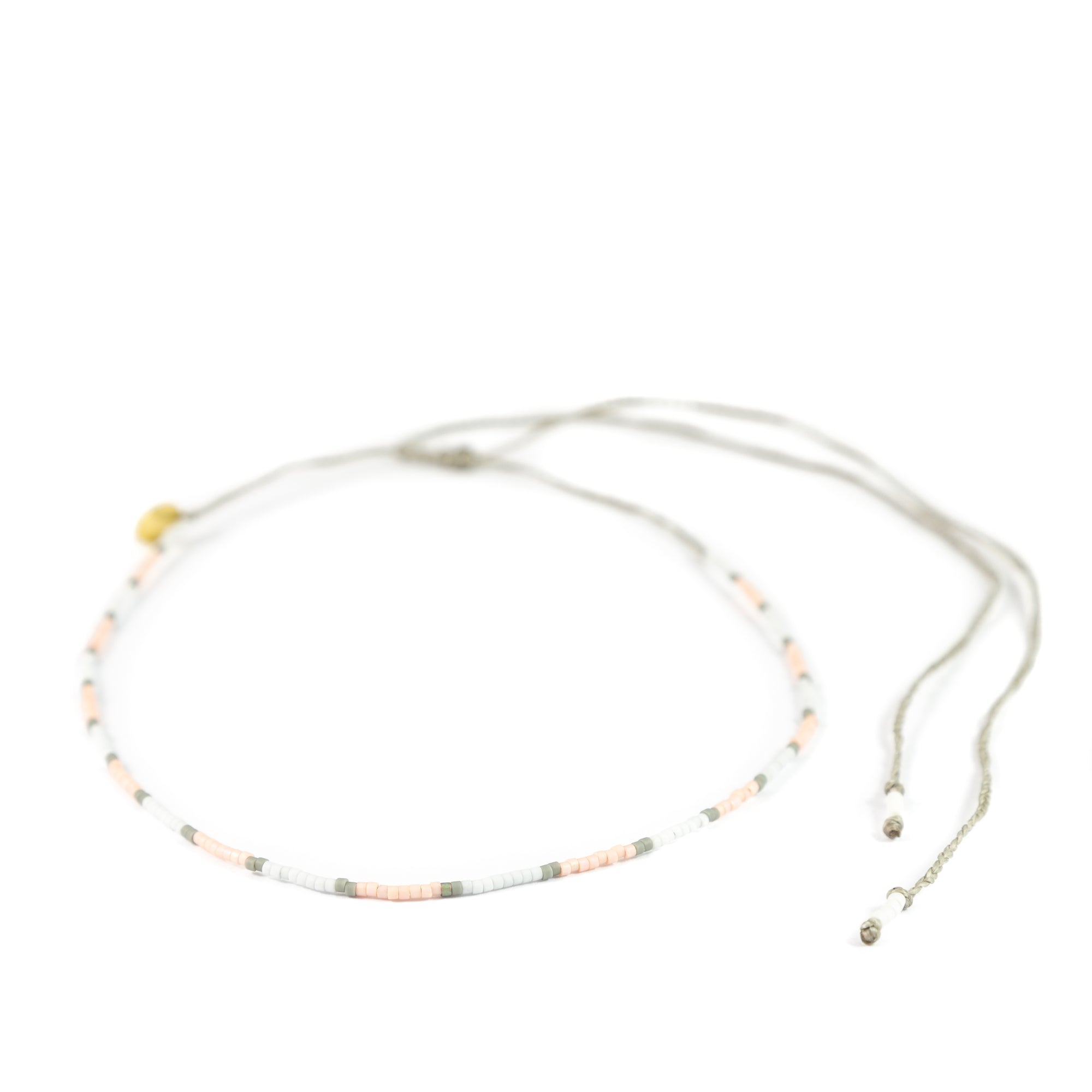 Greys & Coral Color Block Mermaid Necklace