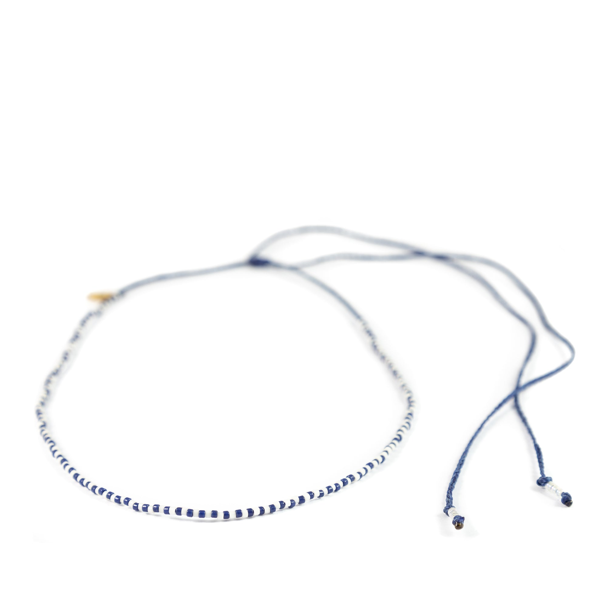 Navy Alternating Mermaid Necklace