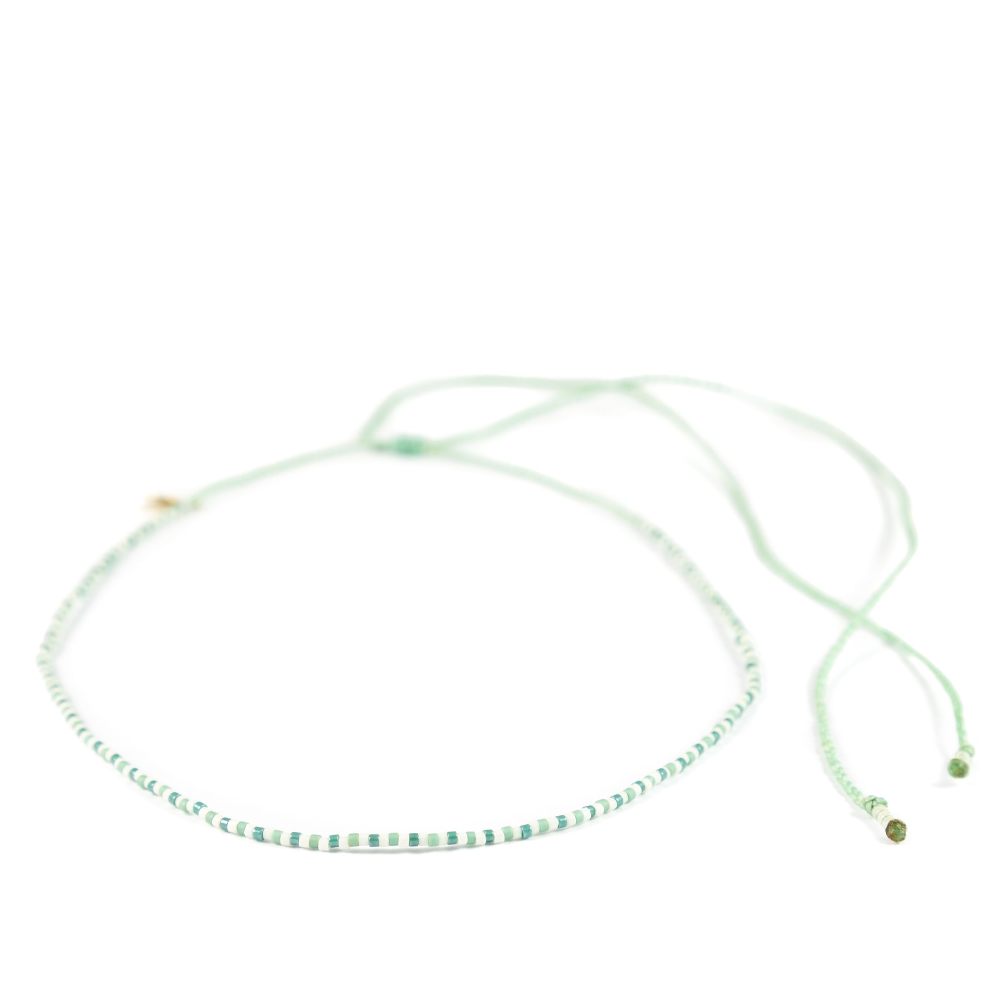 Cucumber & Secret Garden Two Color Alternating Mermaid Necklace