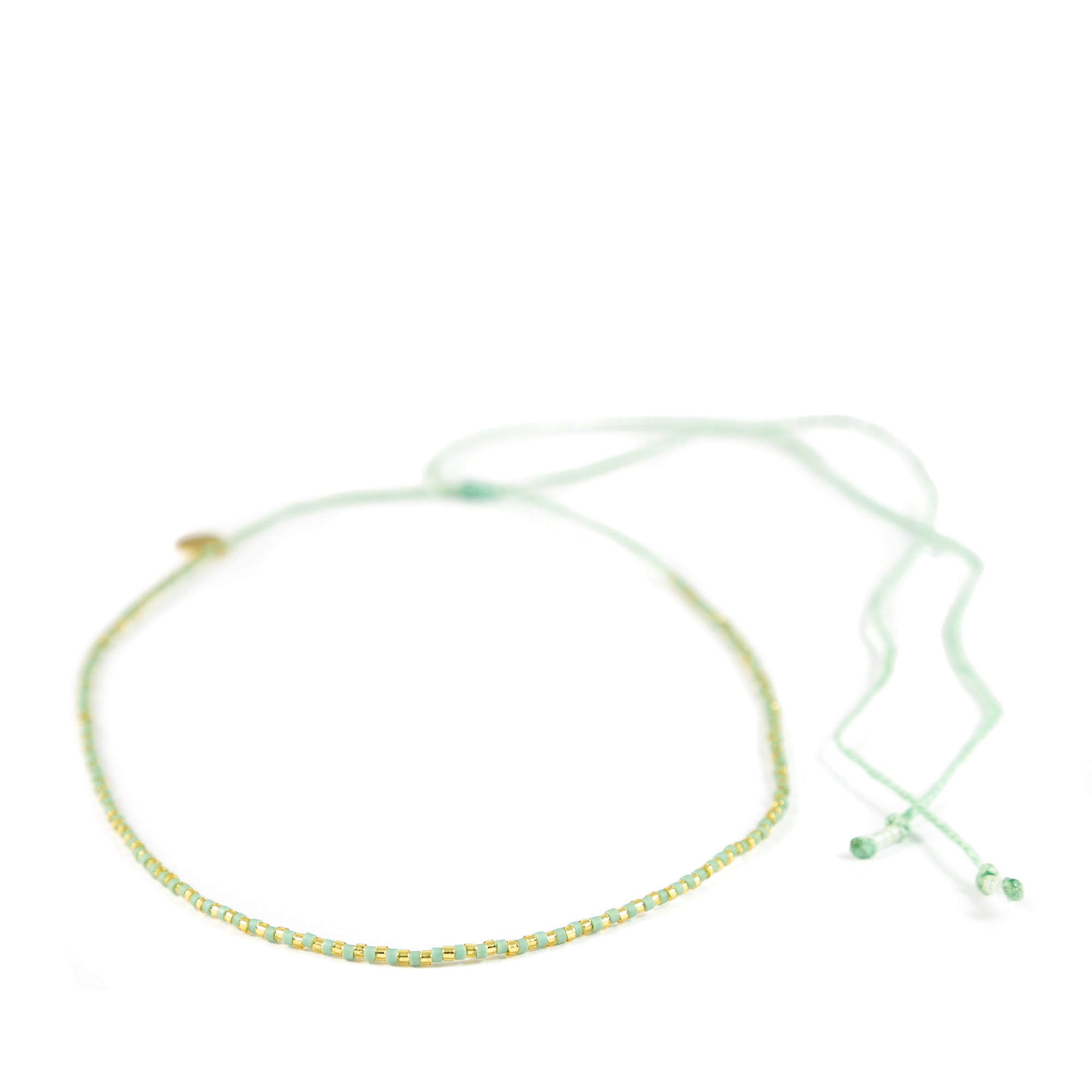 Cucumber & Gold Alternating Memaid Necklace