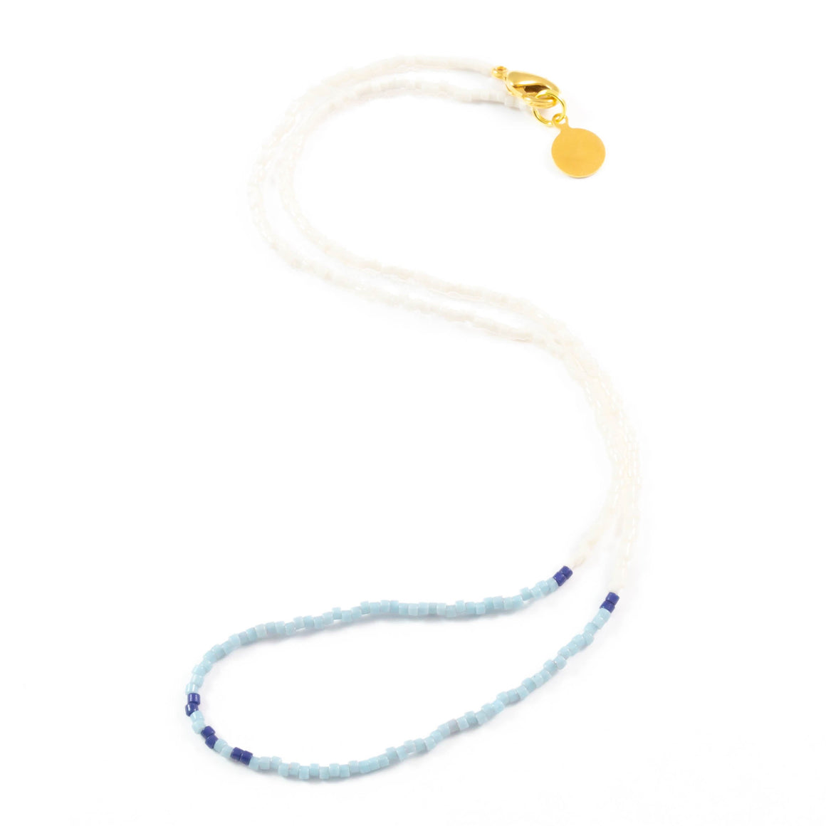 Blues Day at the Beach Wanderlust Necklace