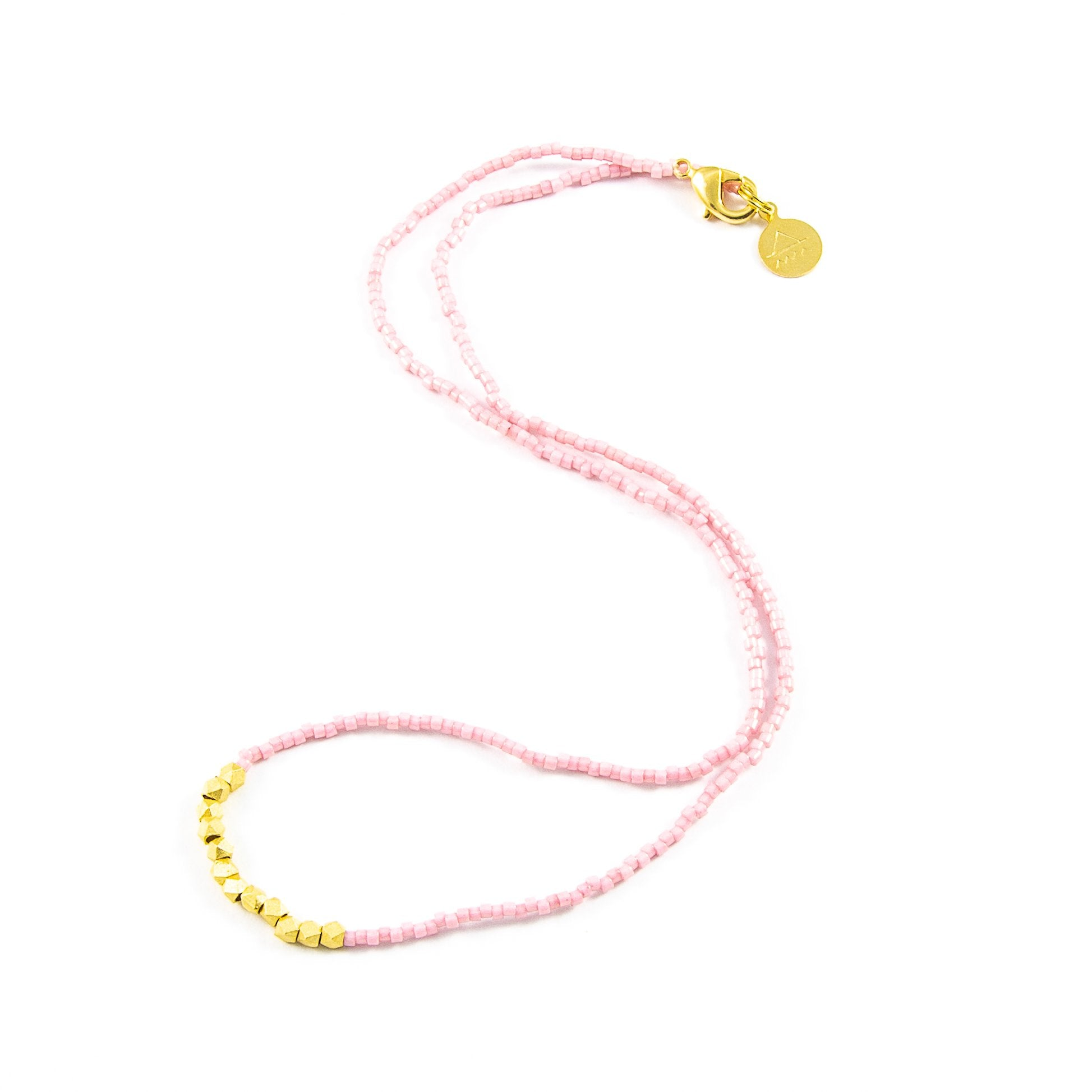 Blush Day to Night Necklace in Gold