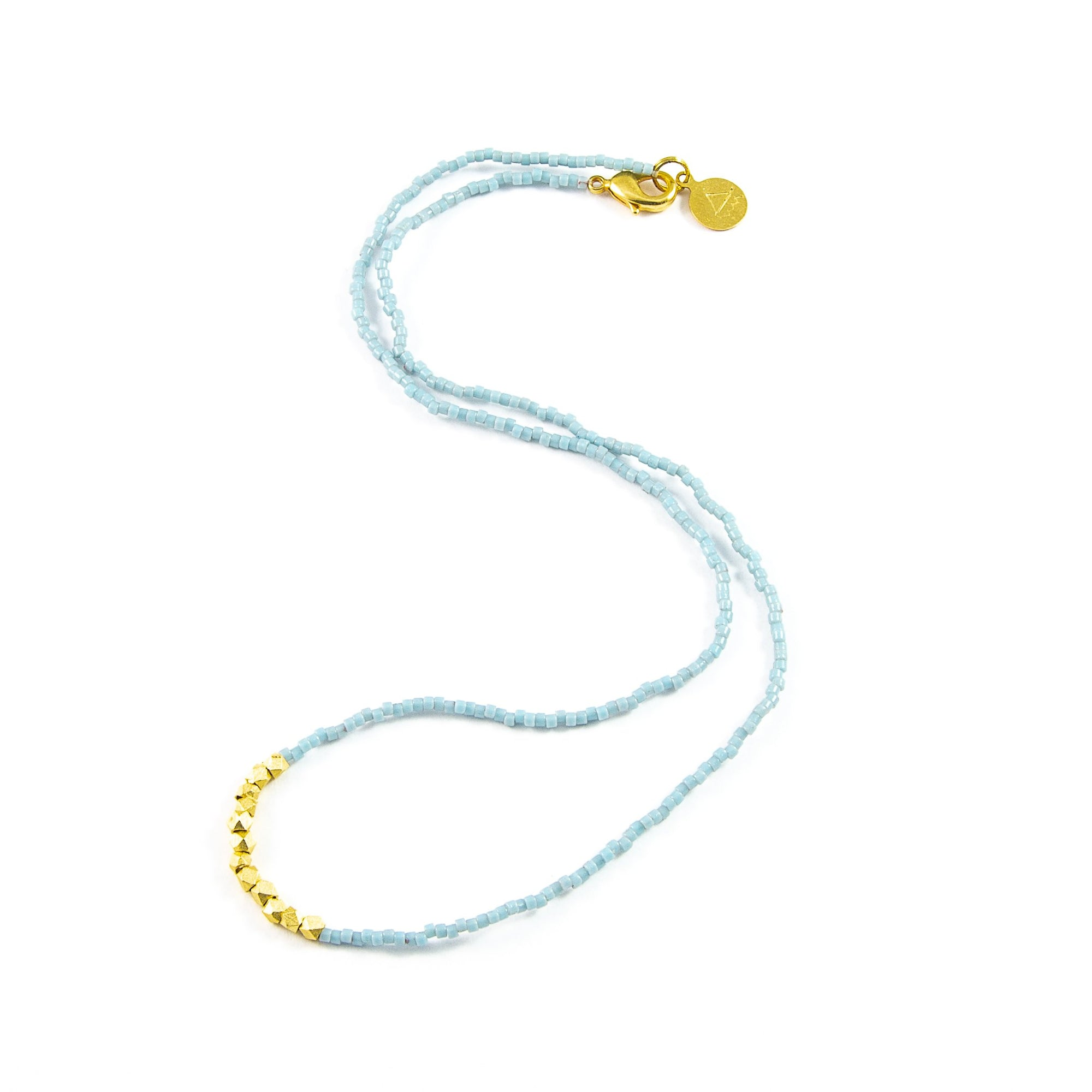 Stormy Ocean Day to Night Necklace in Gold