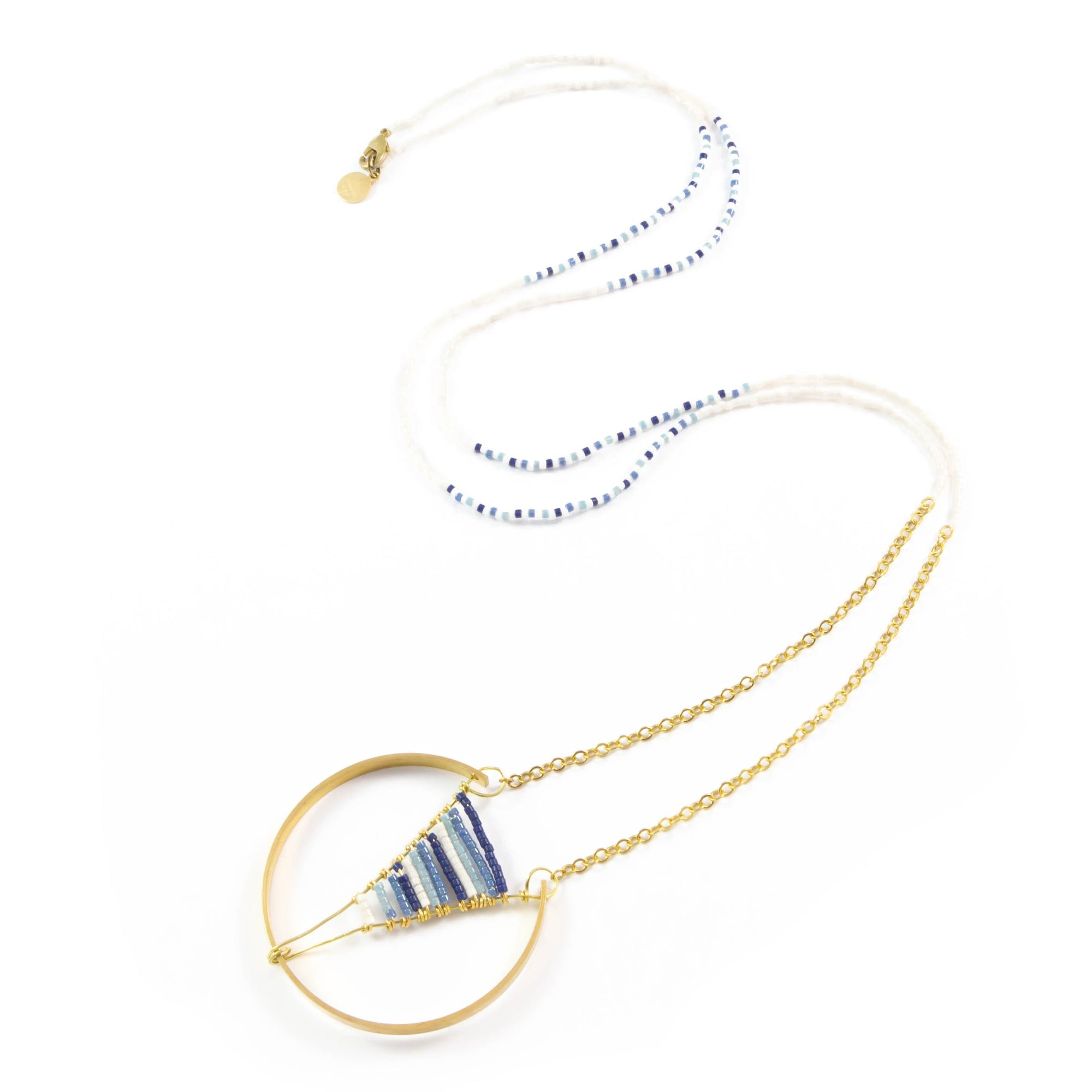 Blues Woven Broken Circle Necklace
