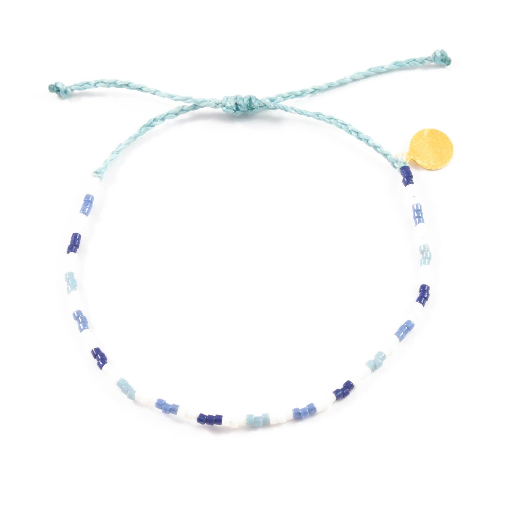 Blues Shades of Giving Pattern Beaded Bracelet