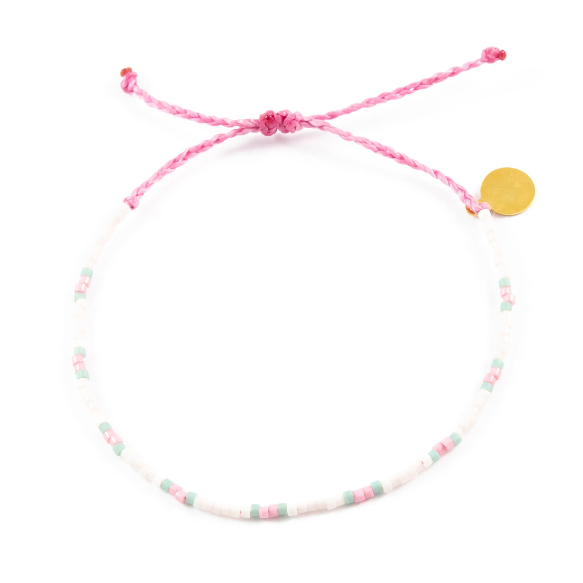 Cucumber & Blush Two Tone Dot Beaded Bracelet