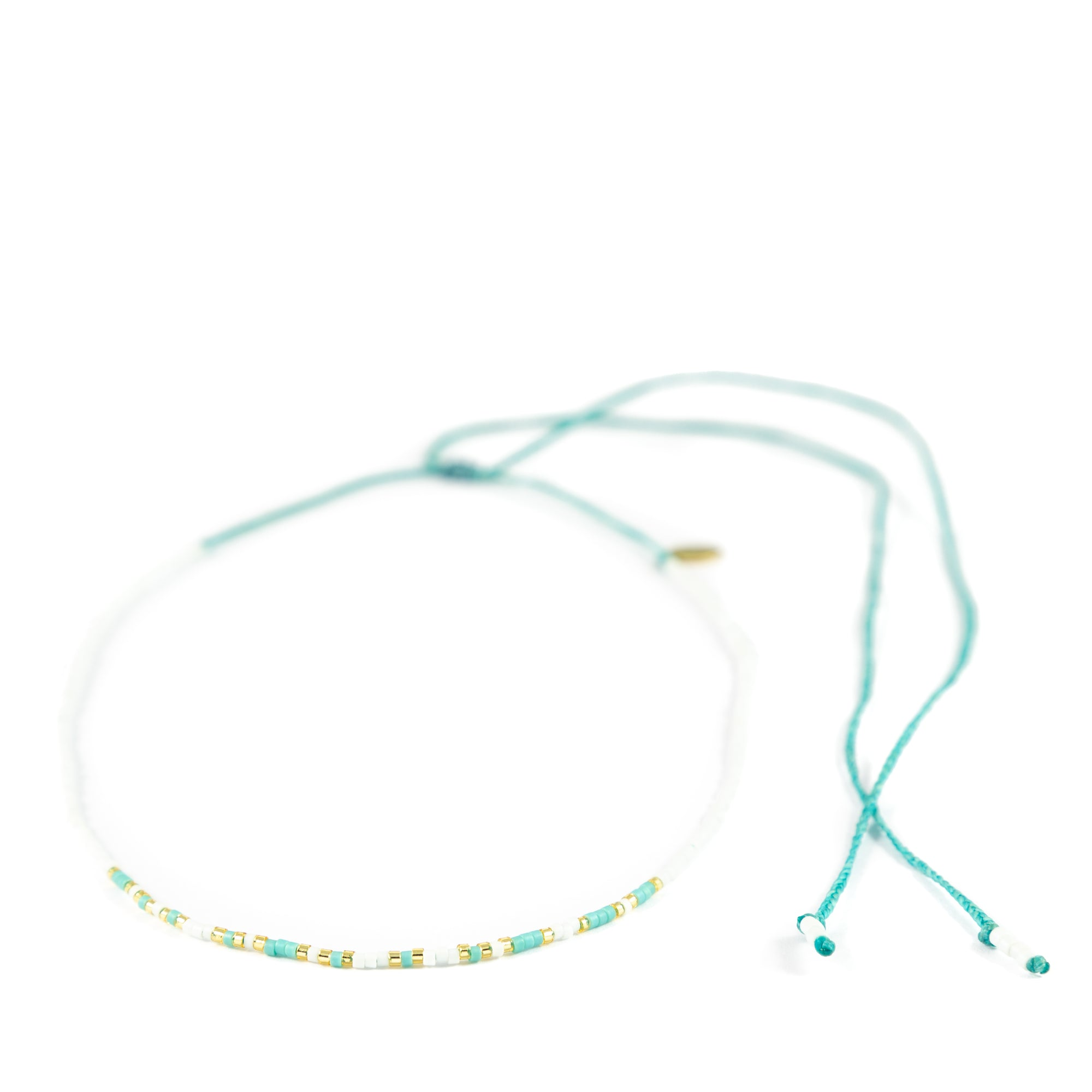 Teal DREAM Morse Code Choker