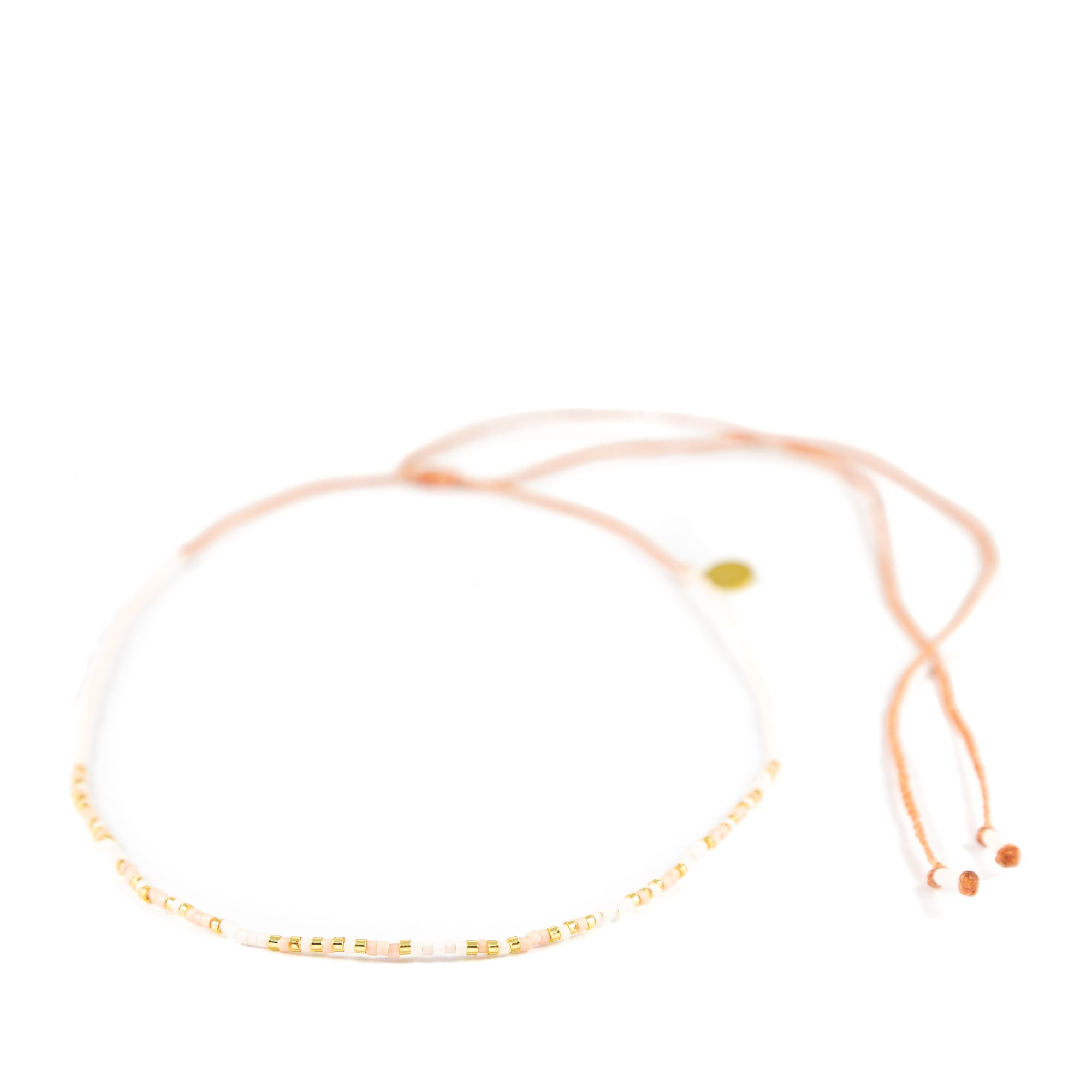 Coral COURAGE Morse Code Choker