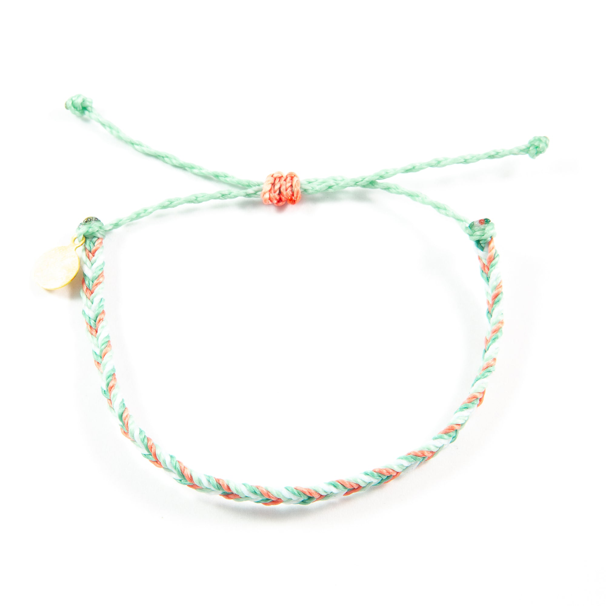 Coral & Secret Garden Chevron Education Bracelet
