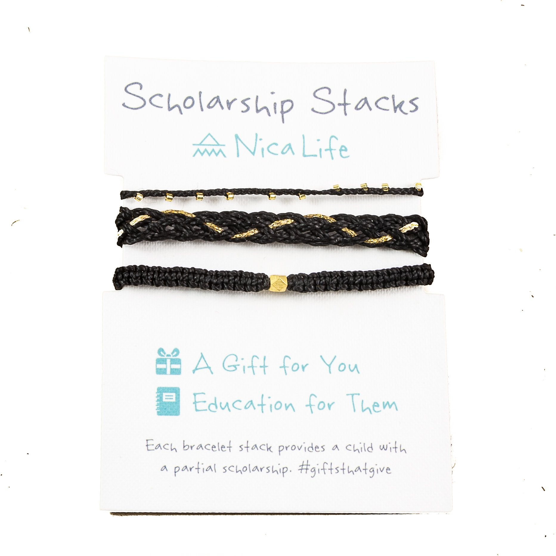 Black & Gold Bracelet Stack