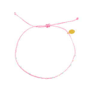 Pink Barely Beaded Anklet