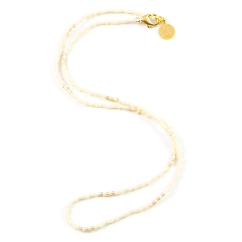 Cream and Gold Simple Statements Necklace