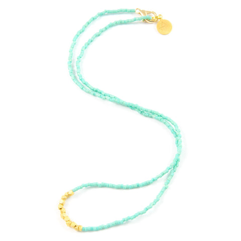 Teal Day to Night Necklace