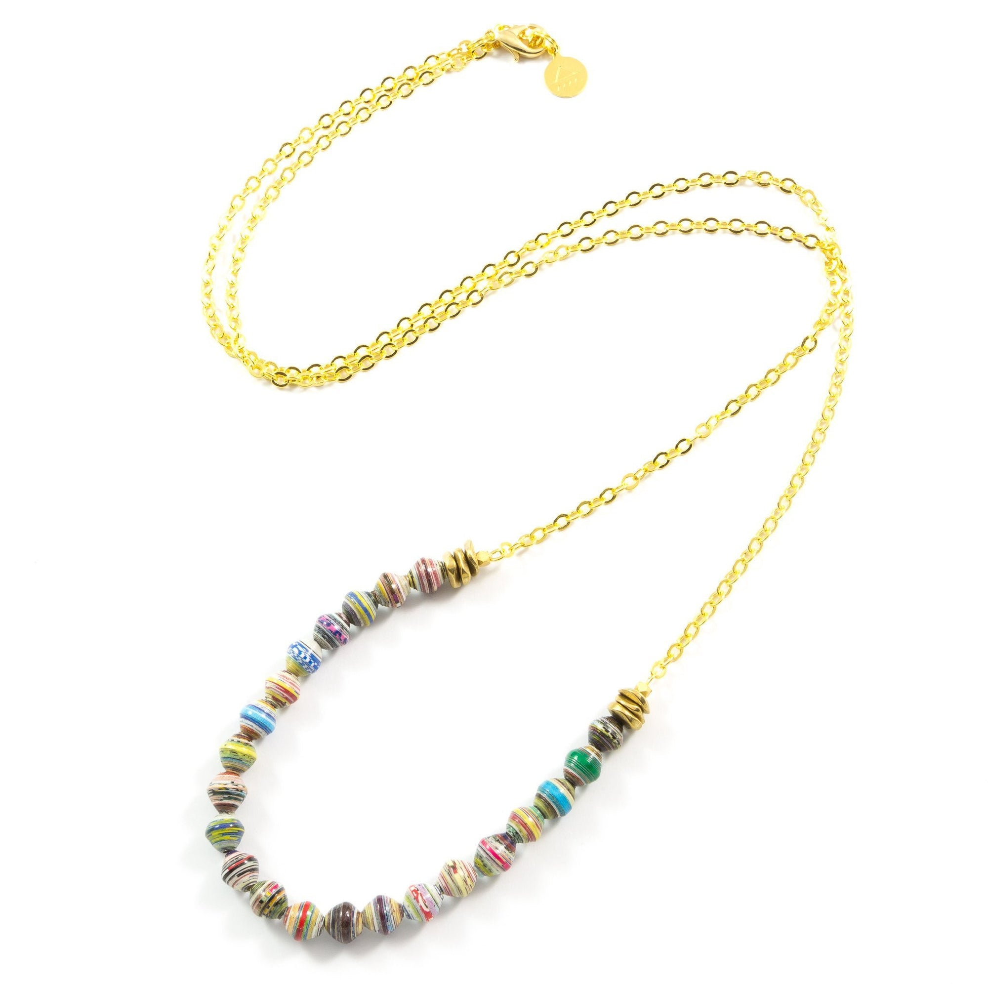 Paper Bead Strand Necklace