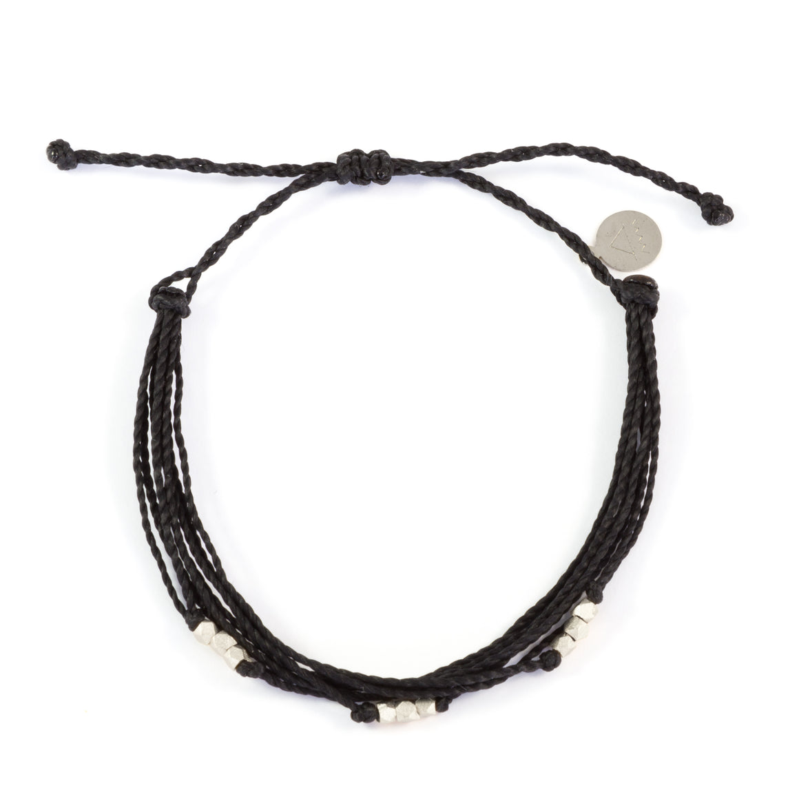 Black Macua in Silver Bracelet