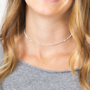 Grey & Coral Ombre Mermaid Necklace