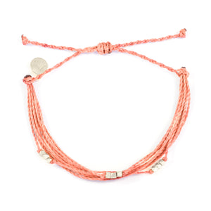 Coral Macua in Silver Bracelet