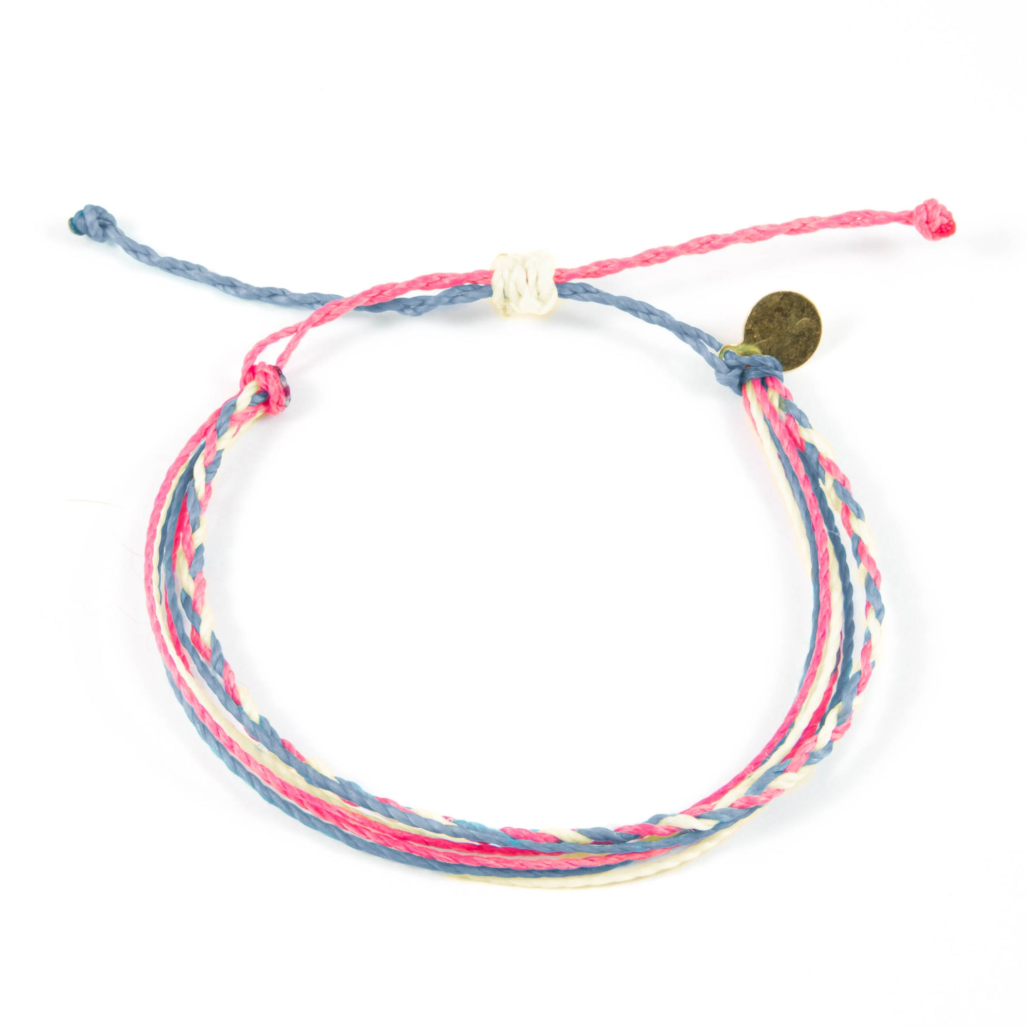 Denim Rose Braided Education Bracelet