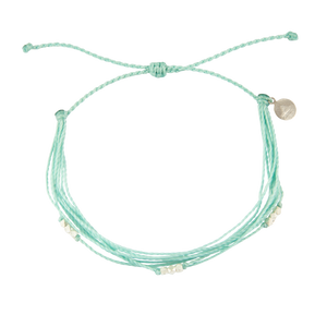 Cucumber Macua Anklet in Silver