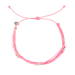 Pink Macua in Silver Anklet