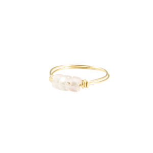 Rose Quartz & Gold Intention Ring