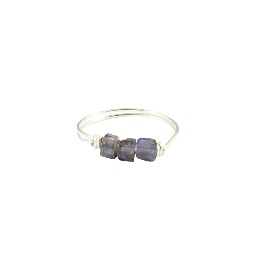 Iolite & Silver Intention Ring