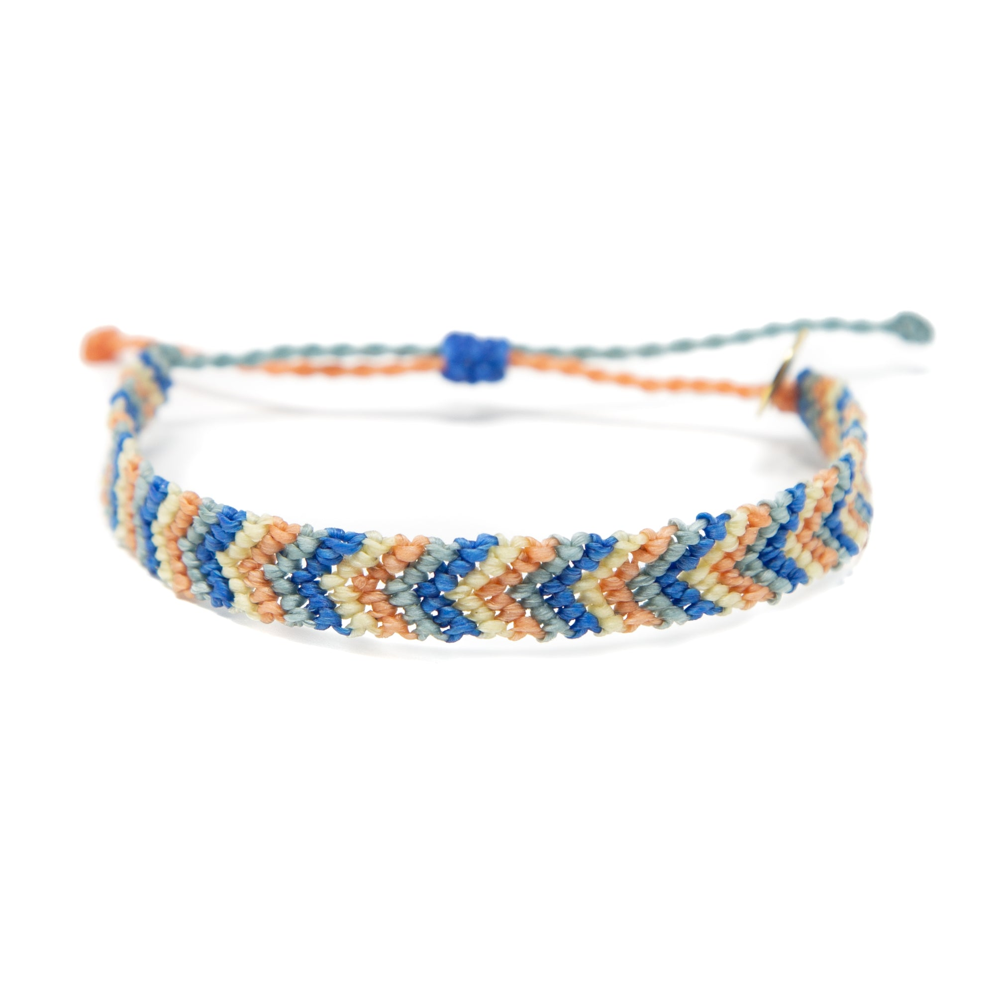Blue & Neutral Chevron Friendship Bracelet