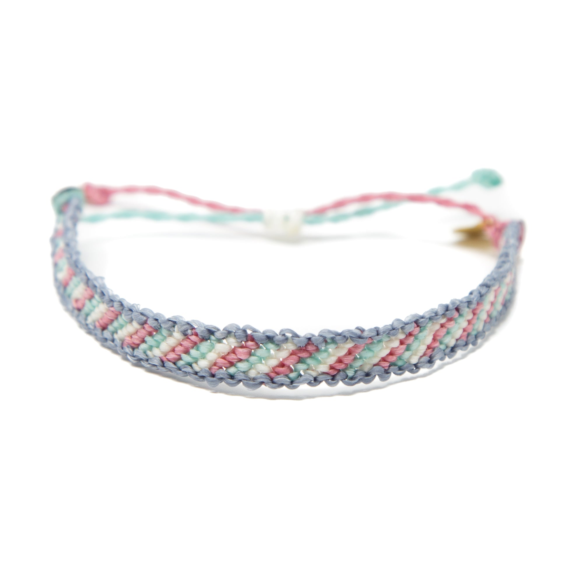 Denim Candy Stripe Friendship Bracelet