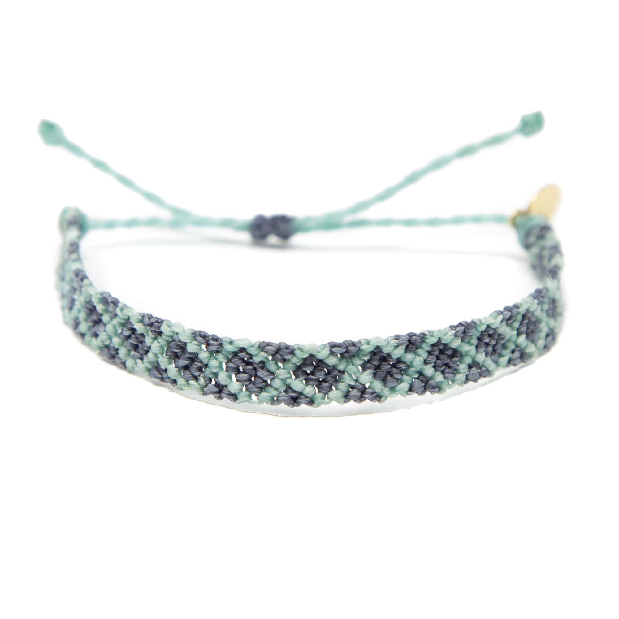 Denim & Cucumber Diamond Friendship Bracelet