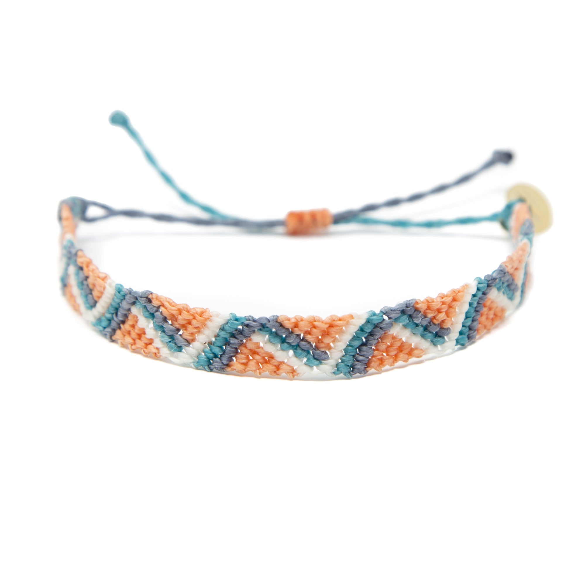 Coral Wave Friendship Bracelet
