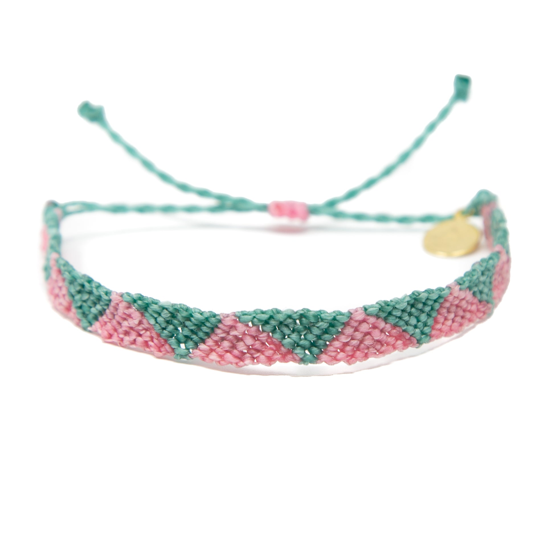 Pink & Secret Garden Triangle Friendship Bracelet