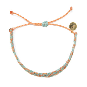 Coral & Cucumber Diamond Friendship Bracelet