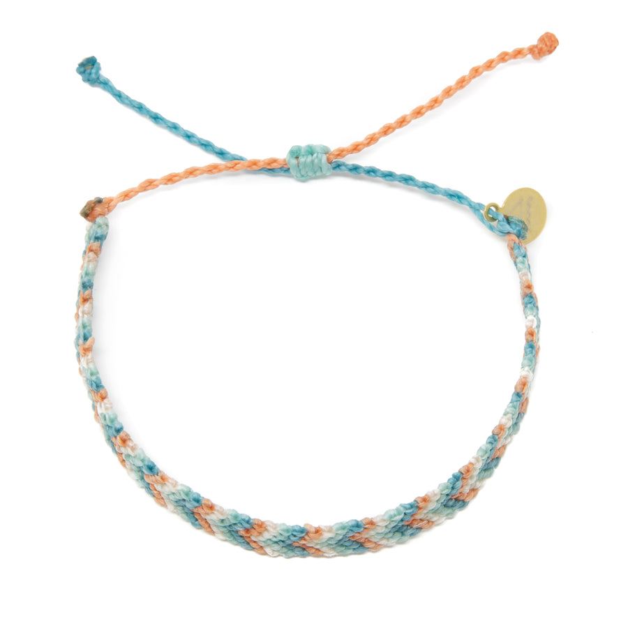 Coral & Teal Chevron Friendship Bracelet