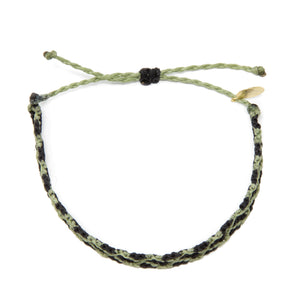 Black & Olive Diamond Friendship Bracelet