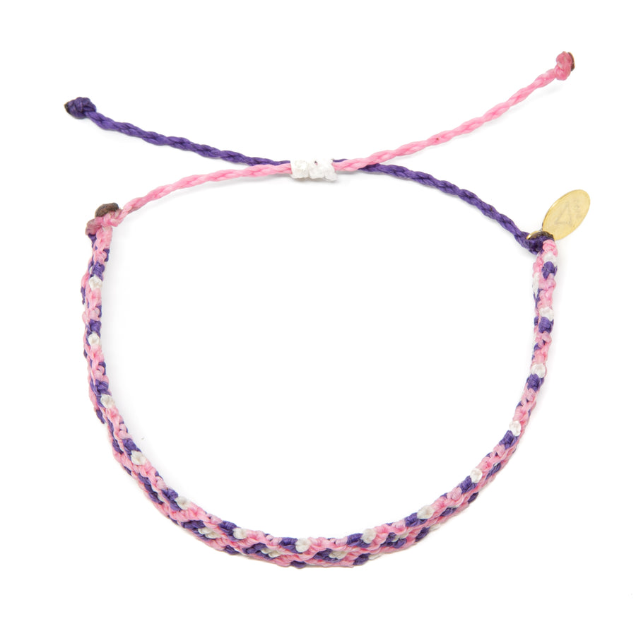 Pink & Purple Double Diamond Friendship Bracelet