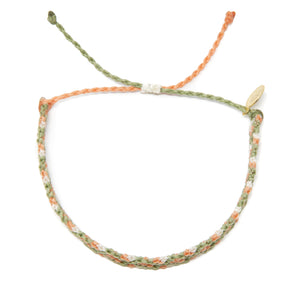 Bright Neutral Double Diamond Friendship Bracelet
