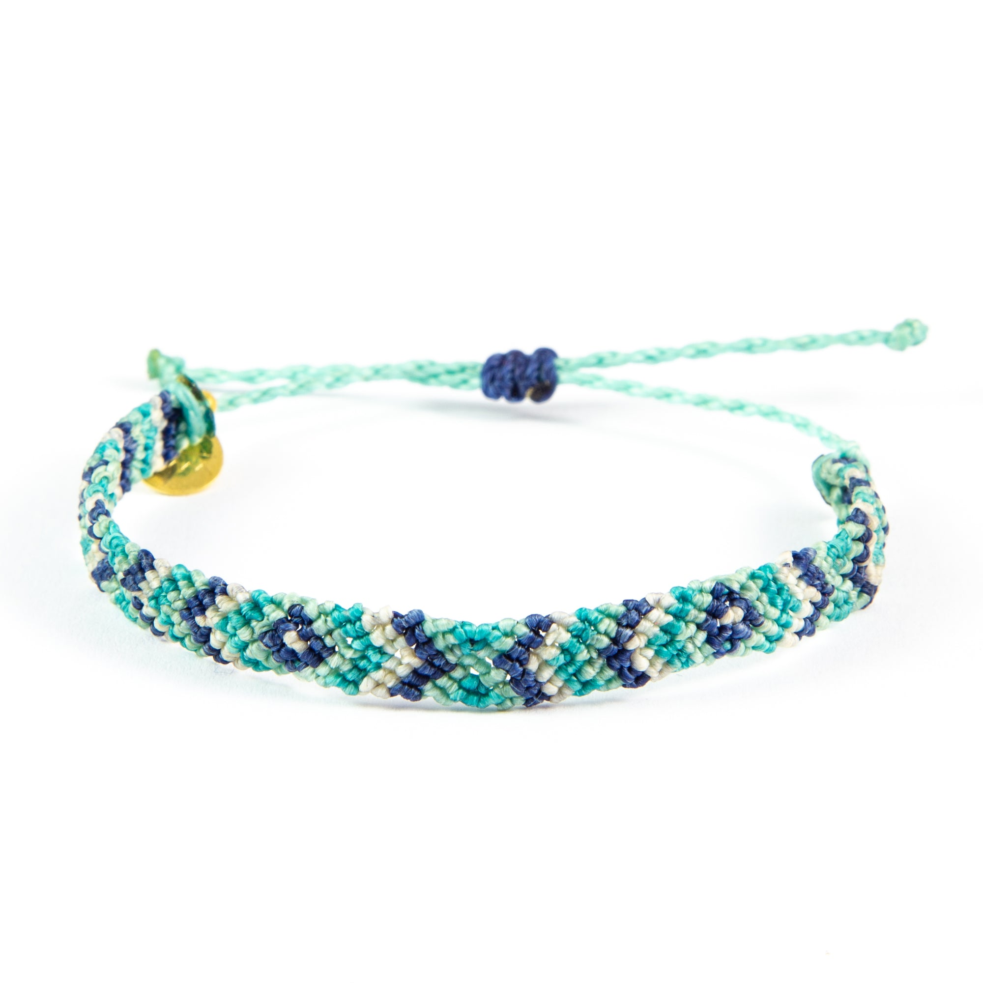Blues Diamond Pattern Friendship Bracelet