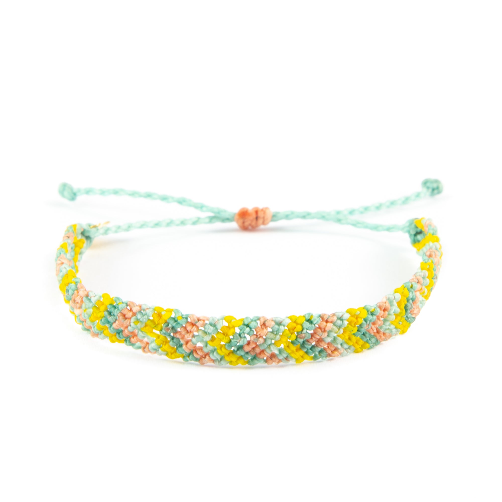 Summer Punch Chevron Pattern Friendship Bracelet