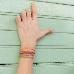 Pink Lemonade Chevron Education Bracelet