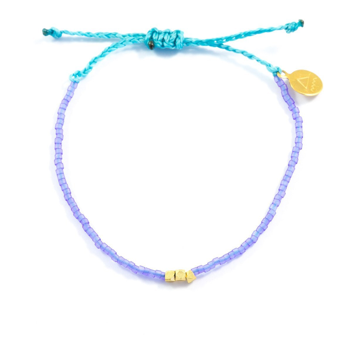 Sea Glass Blue & Teal Gold Beaded Bracelet