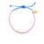 Sea Glass Pink & Blue Gold Beaded Bracelet