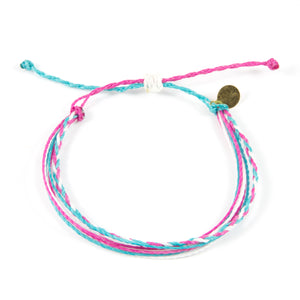 Pink & Teal Braided Education Bracelet
