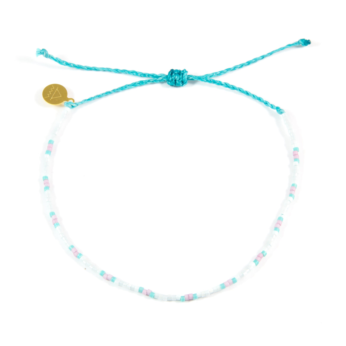 Teal & Plum Dot Anklet