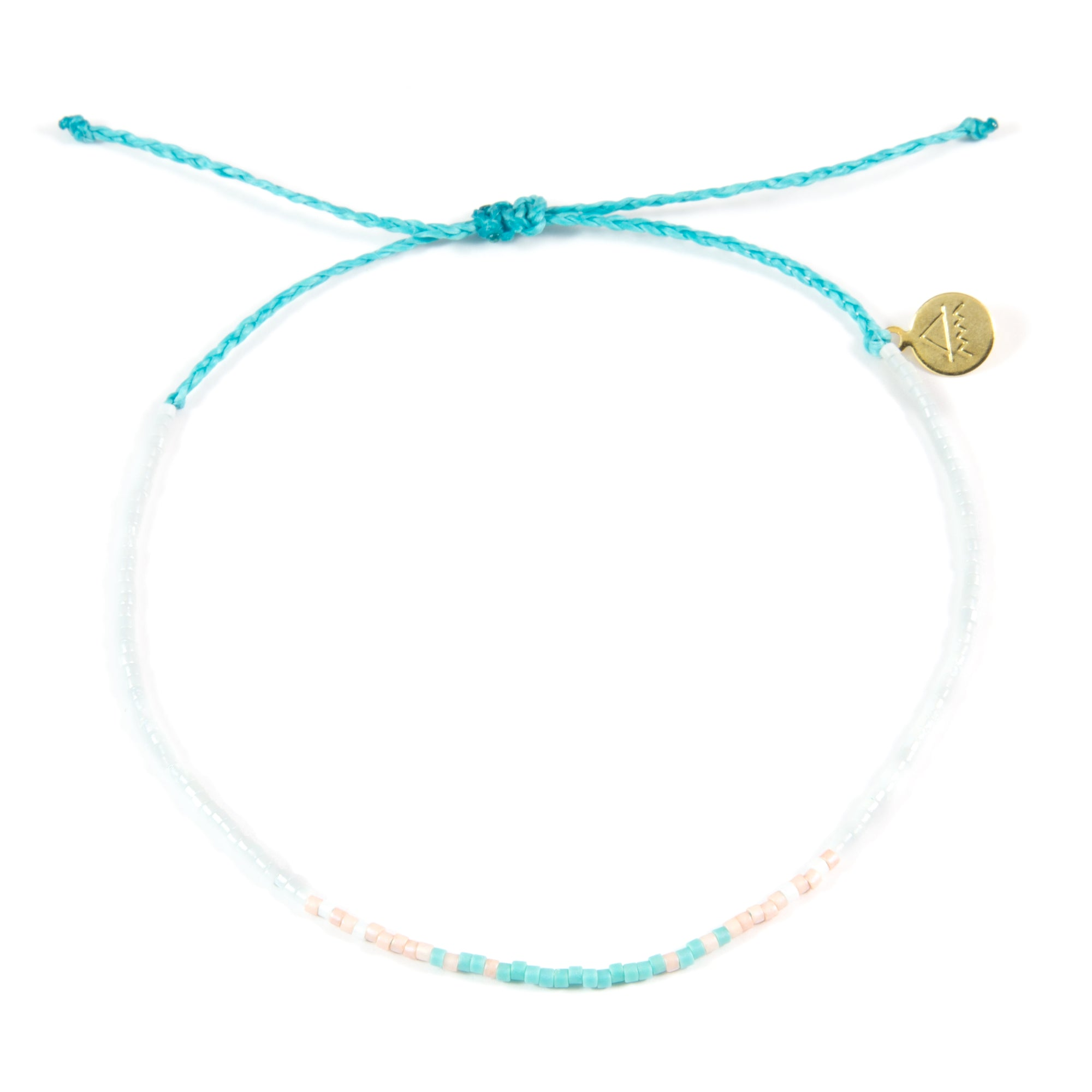 Teal & Coral Ombre Anklet